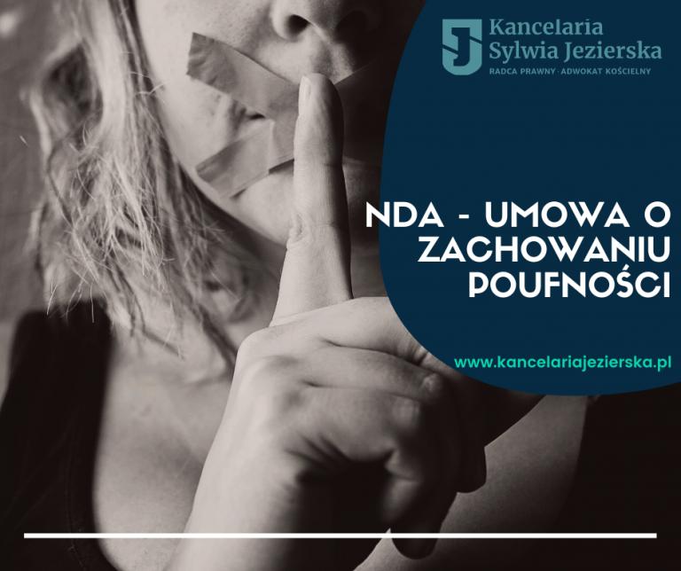 NDA - umowa o zachowaniu poufności Kancelaria Jezierska
